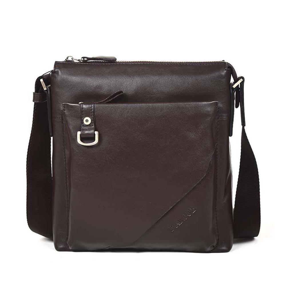 da082eaae78c Men s cowhide leather workbag city courier bag messenger crossbody bag  tablet bag brown original