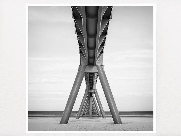 Industrial art bridge photograph geometric photography industrial decor office decor home