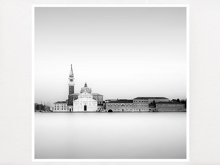 Romantic venice italy black and white minimalist photography