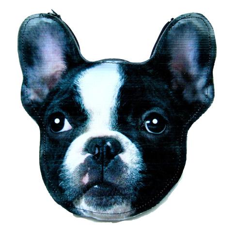 French Bulldog Puppy Dog Head Shaped Vinyl Animal Themed