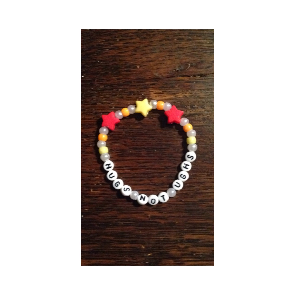 Ezra Koenig Hugs Not Ughs Lettered Pony Bead Bracelet On Storenvy