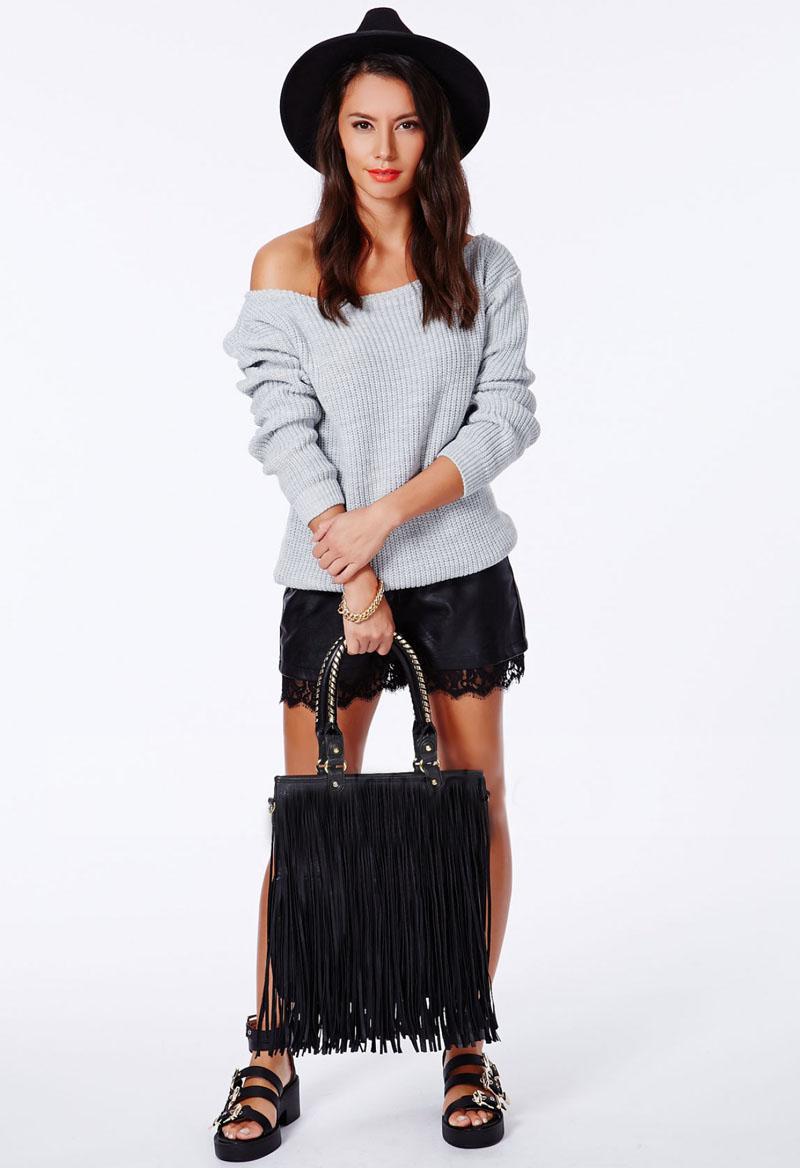88dc92b728a723 Krista One Shoulder White Sweater · Fashion Struck · Online Store ...