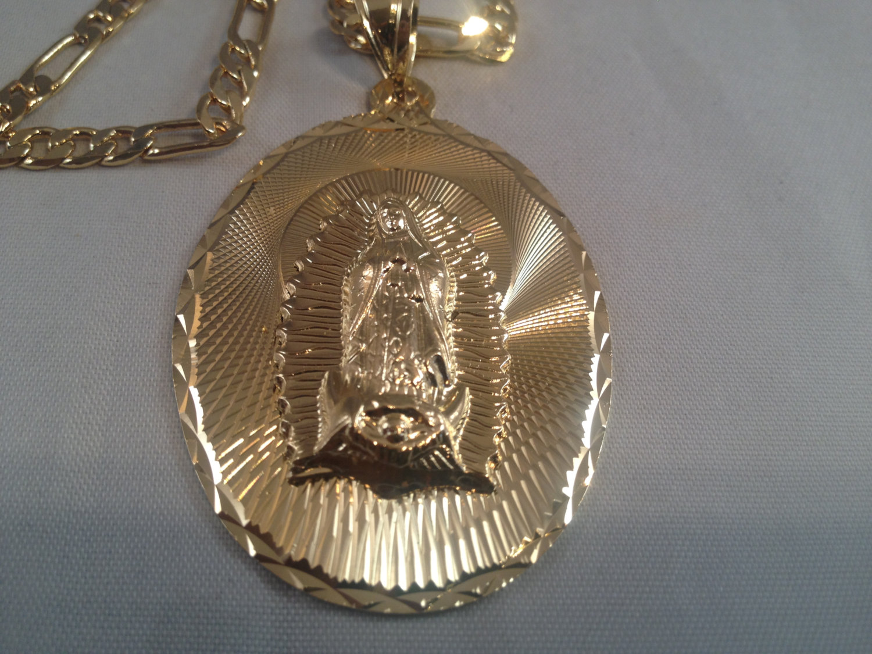 72eb07ae2af Virgen de Guadalupe Cadena Oro K Rosario Sinaloense Our Lady of ...