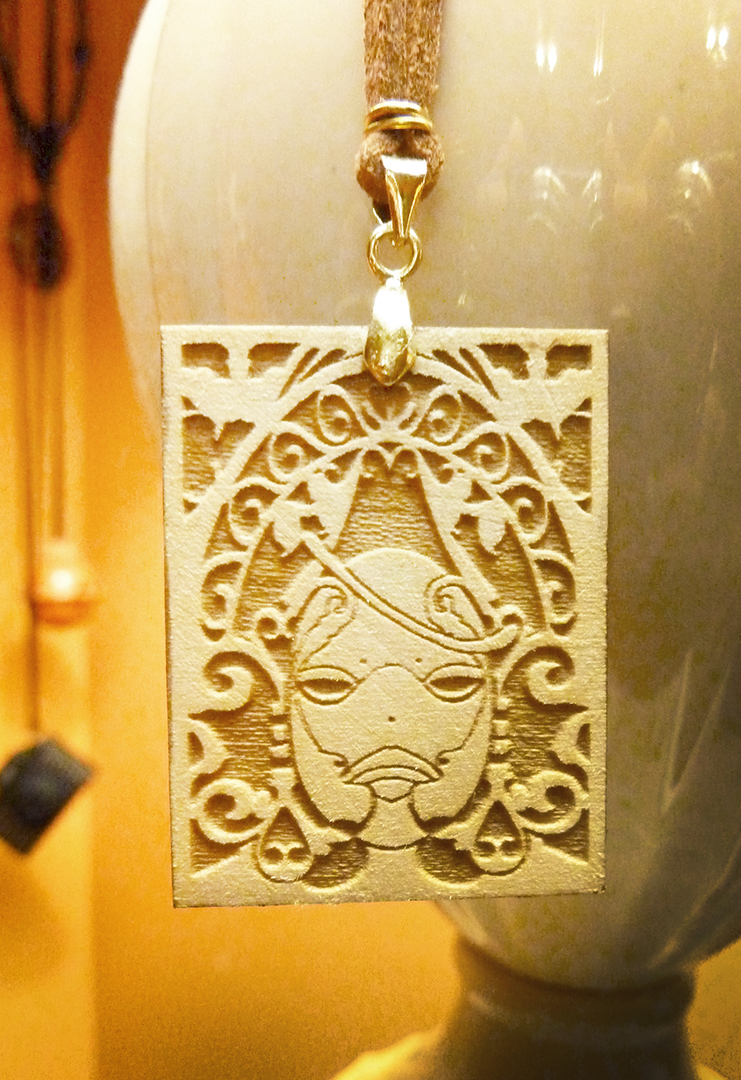 Grimoire Weiss Nier Wooden Necklace On Storenvy