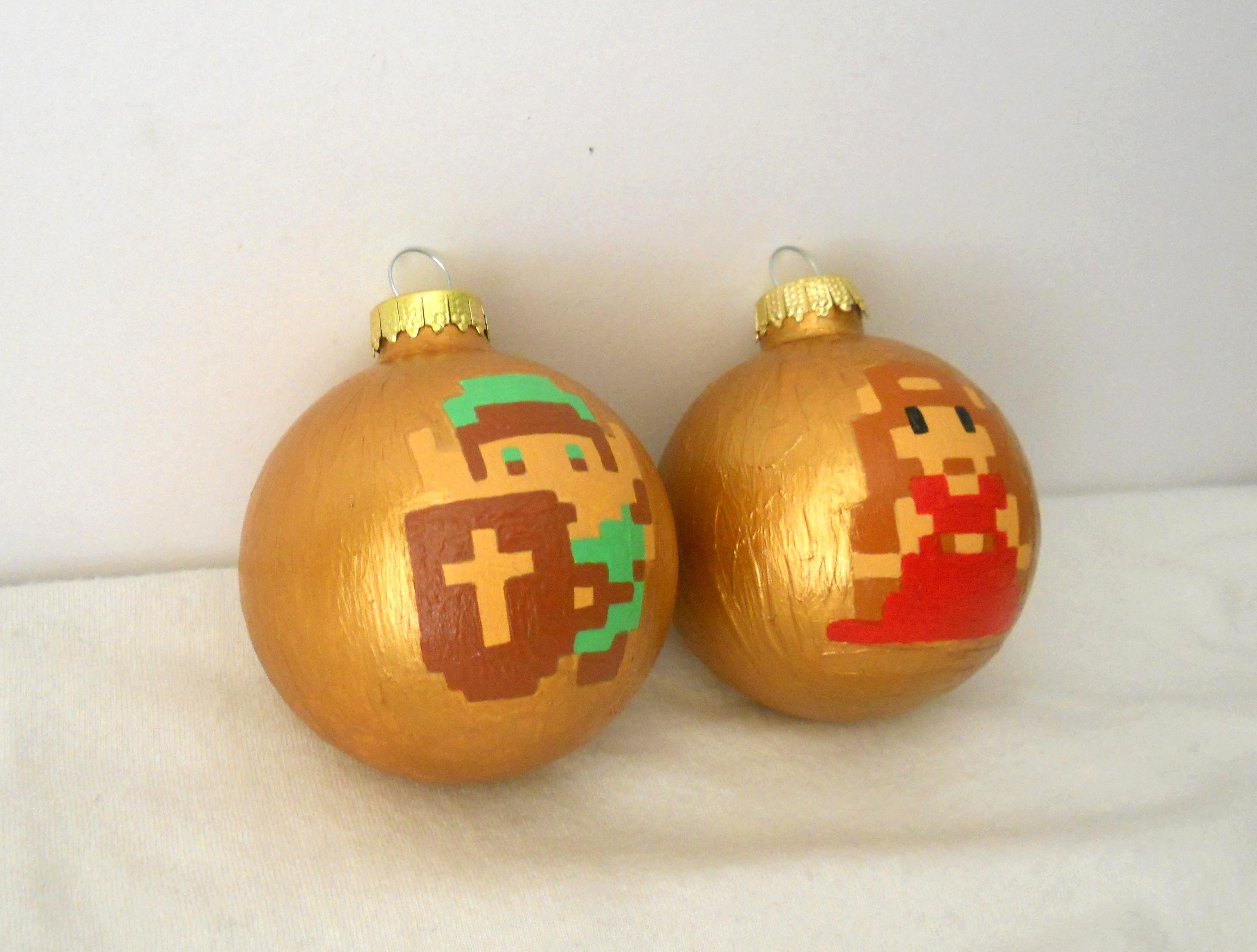 Legend of Zelda 8Bit Link Painted Holiday Ornament NES on Storenvy