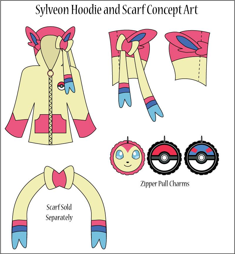 Fairy Hoodie Only Eeveelution Cosplay Jacket Sizes S XL
