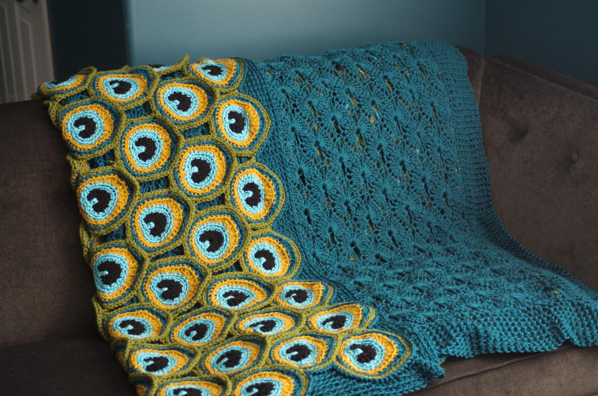 Peacock Pretty Blanket Crochet Pattern On Storenvy
