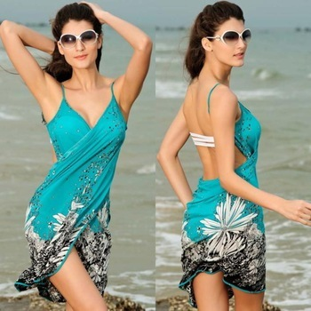 62f783a815d Lady Sexy Floral Bathing Suits Swimwear Cover Up Beach Dress Bikini Swim  Suit