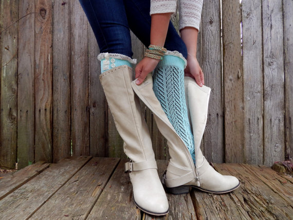 b5a8aa219 ... Lace Boot Socks with vintage Lace trim and buttons - Thumbnail 3