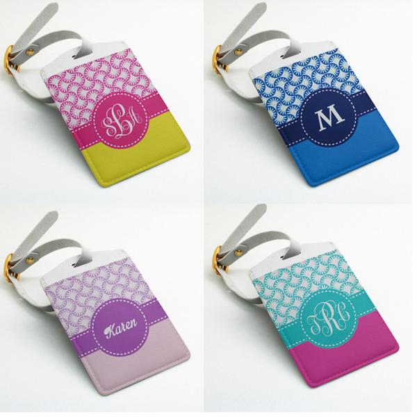 Personalized Luggage Tags Wedding Gift: Monogram Luggage Tag, Bag Tag, Travel Tag, Suitcase Tag