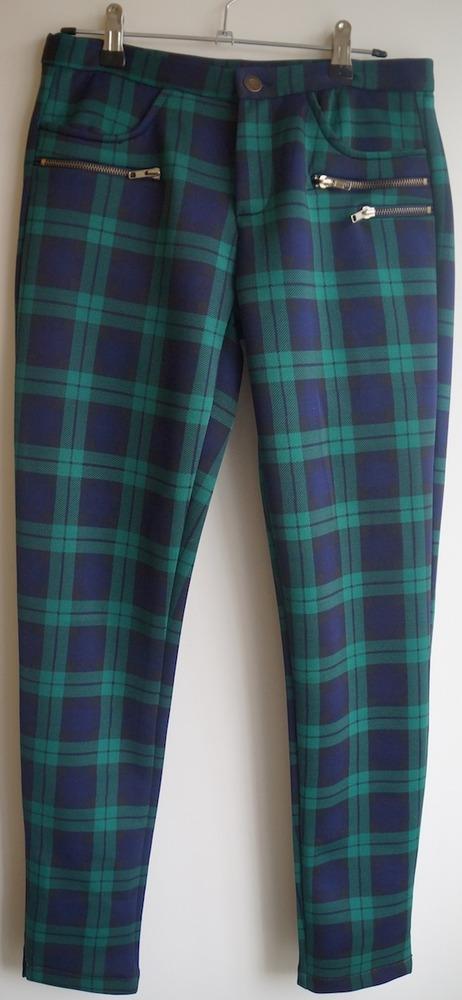 Scuba Green Blue Plaid Pants On Storenvy