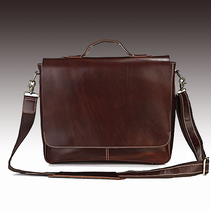 f6f0a28f50 Handmade Leather Briefcase / Leather Messenger Bag / 13