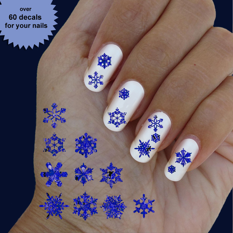 Snowflakes Christmas Nail Art Nail Art 60 Waterslide Stickers Decal