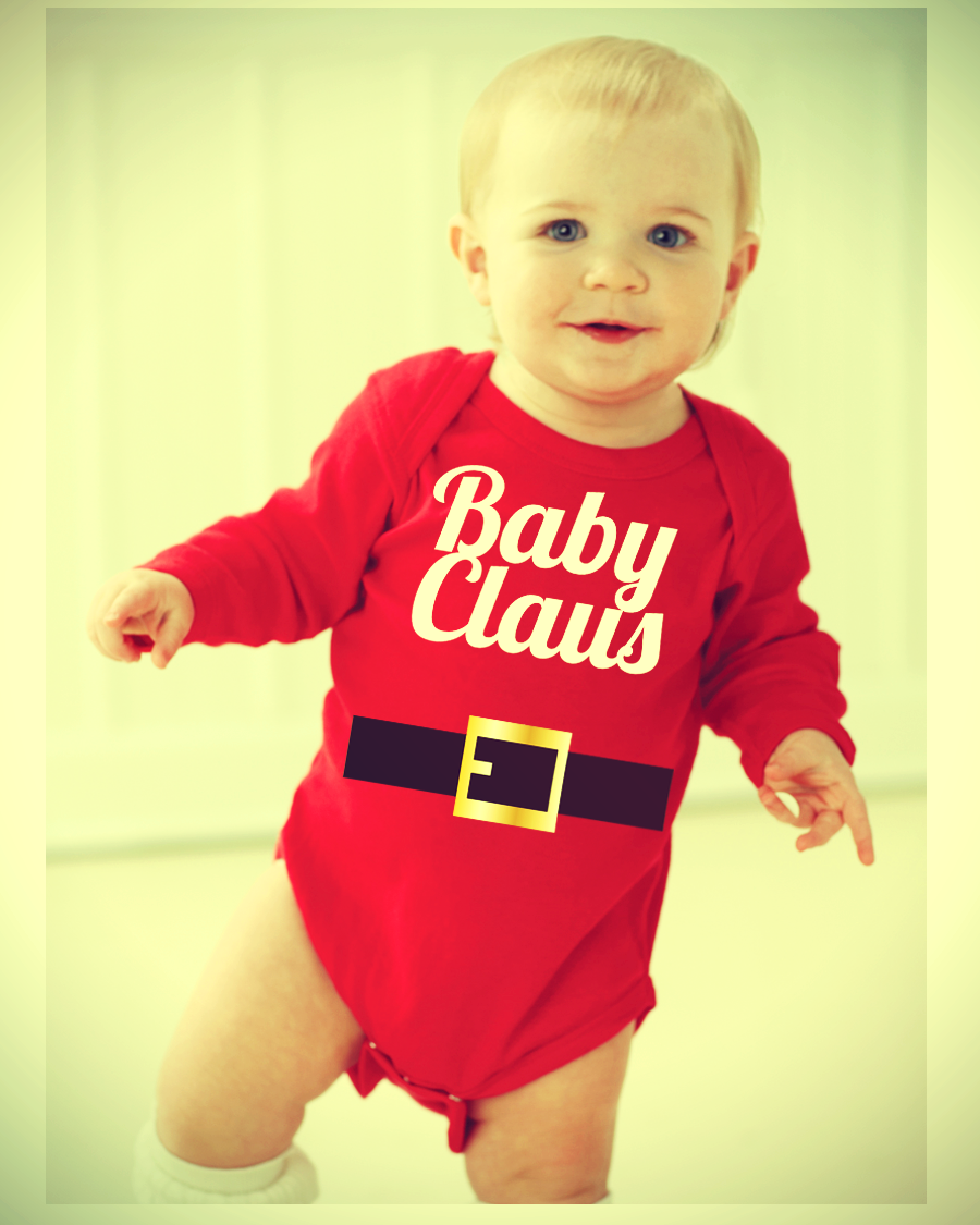 CHRISTMAS ONESIE BABY CLAUS FUNNY BABY ONESIE HOLIDAY ONESIE ...