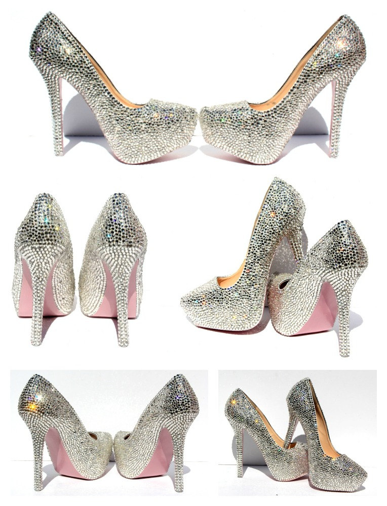 943da899e Swarovski Crystal Heels with hand painted soles in the color of your ...