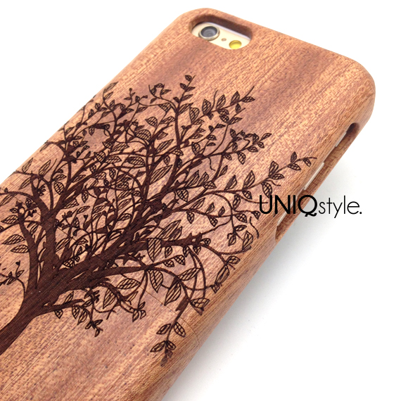 tree plant engraved wood case for iphone 6 iphone 4 4s iphone 5 5s
