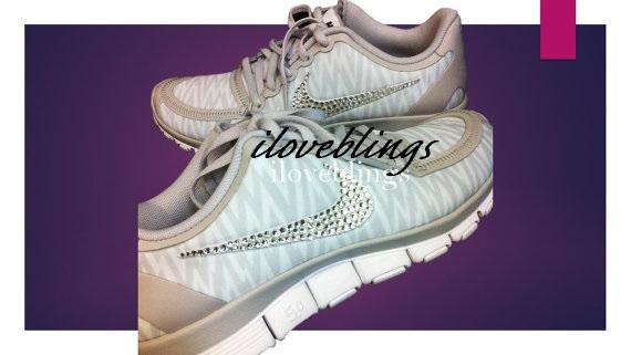 ... Nike Free 5.0 V4 in Natural Grey White Animal Print with Genuine  Swarovski Crystals 33fe5d9d5
