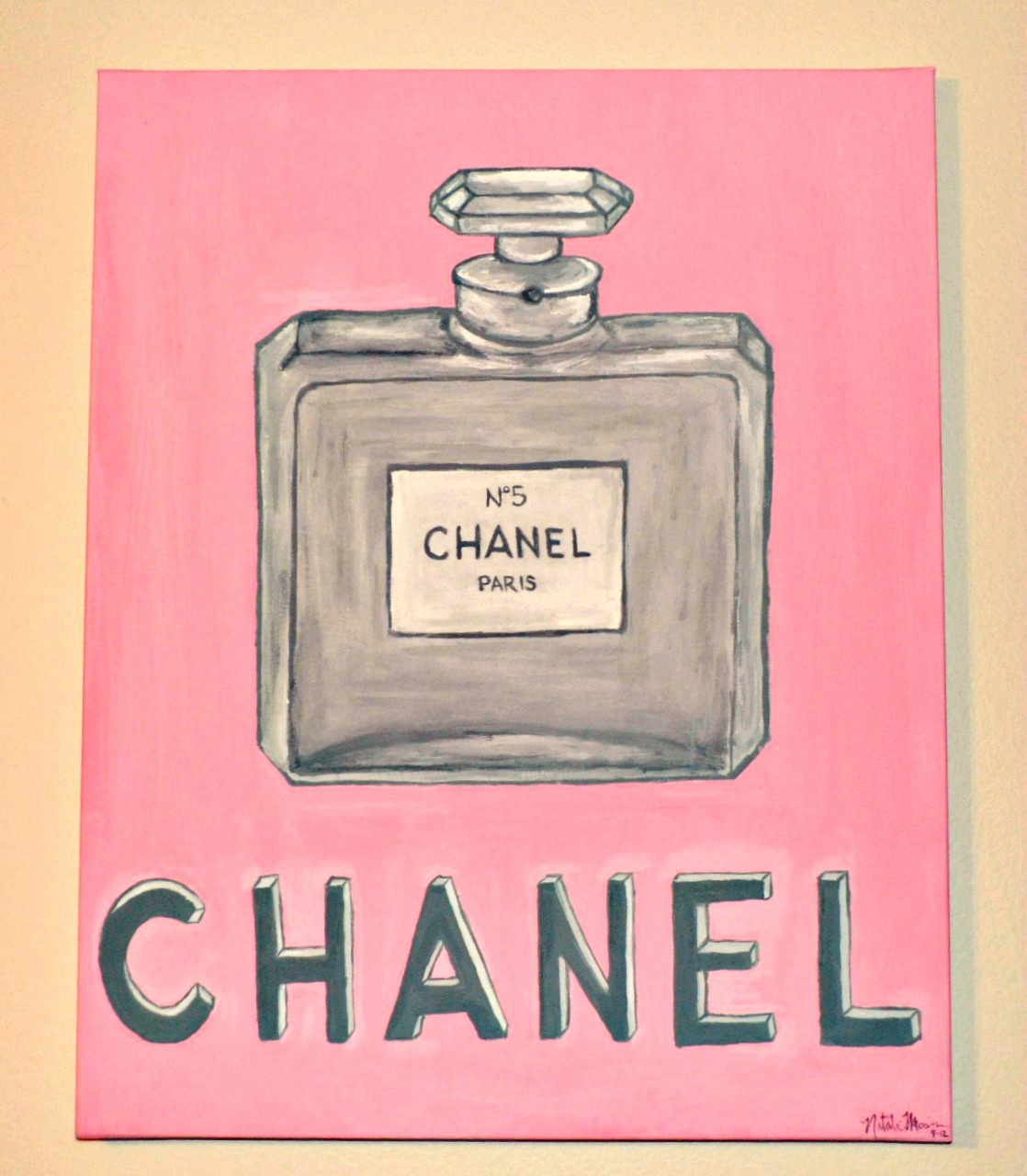 Original Hand Painted Vintage Chanel Perfume Bottle
