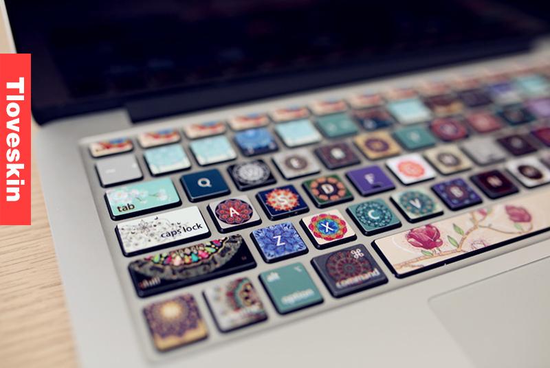 Flowers-macbook keyboard decal macbook pro keyboard skin macbook air  sticker macbook 4a0aa6dd7
