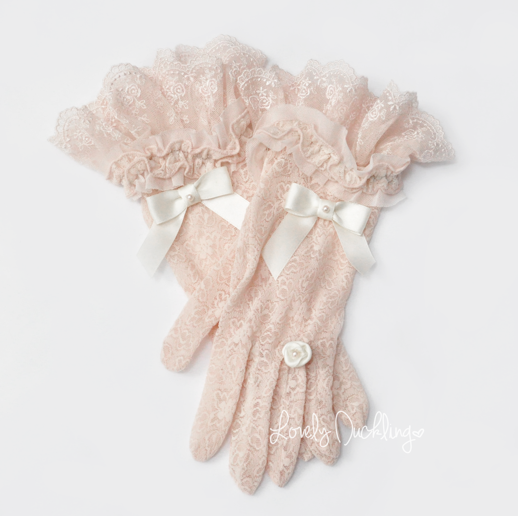 PRE-ORDER Lovely Pink Lace Gloves · Lovely Duckling ...