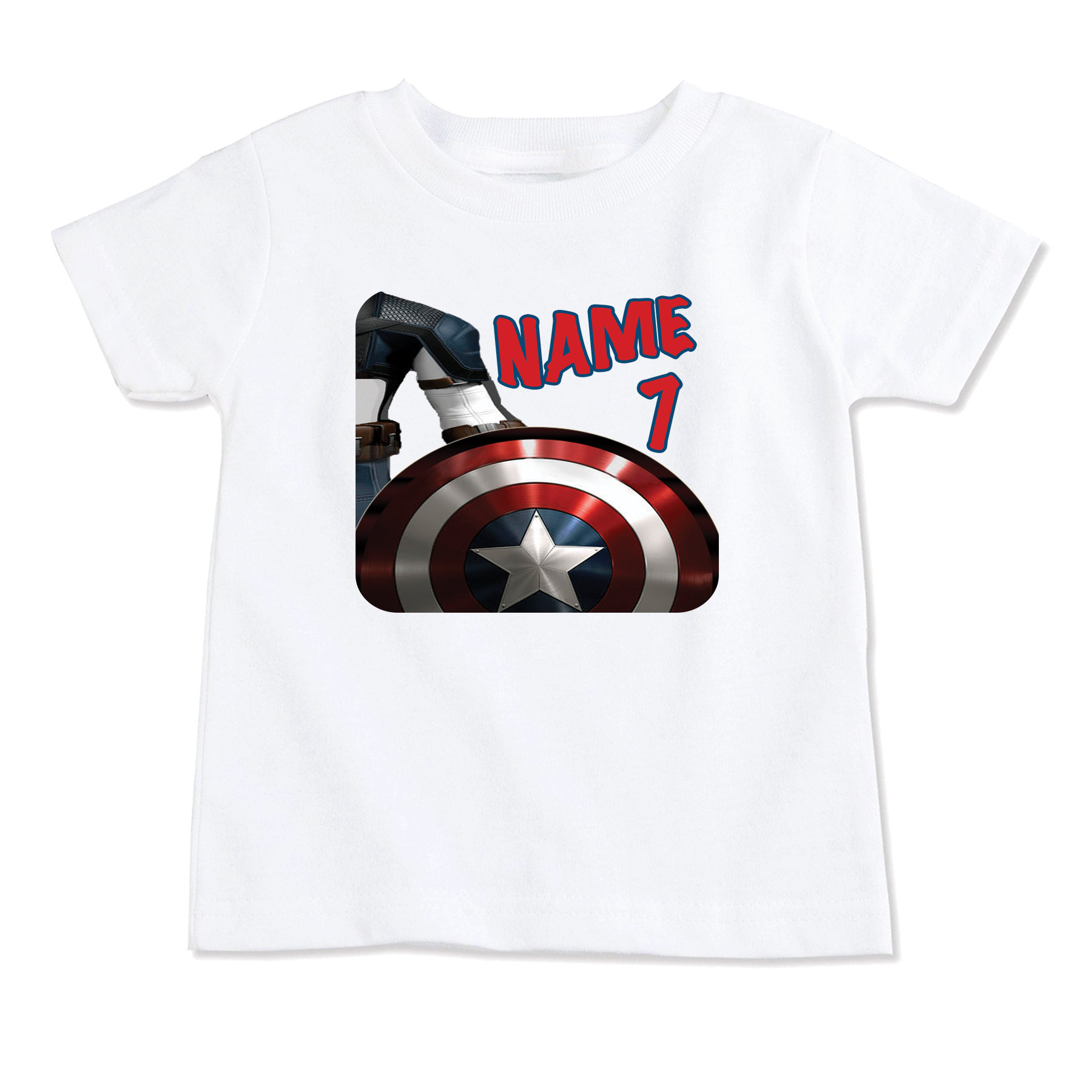 Captain America Superhero T Shirt Top Birthday Toddler