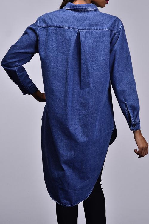 c0a8eb76de Oversized denim tunic top dress kylie02 small · Kyliejenner denimshirt small