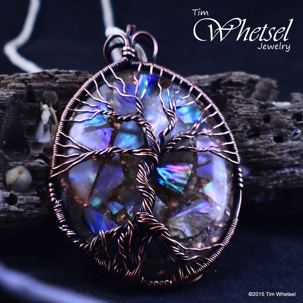 Glow In The Dark Tree Of Life Orgonite Pendant Mother Of