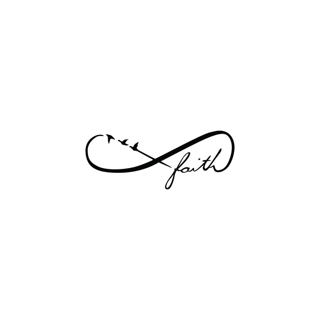 Infinity Faith Symbol Temporary Tattoo Set Of 2 Tattify
