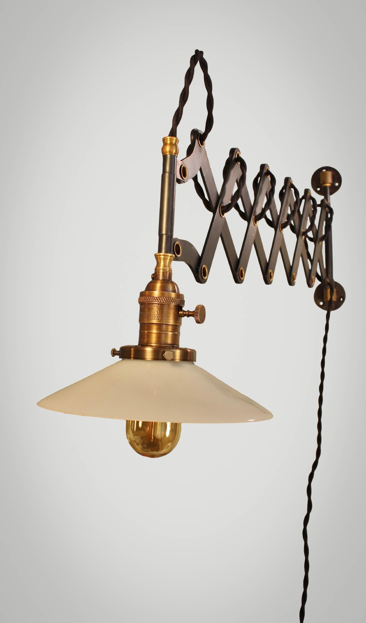 Vintage Industrial Scissor Light - Expandable Accordion ...