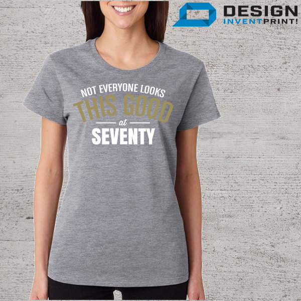 779875d6a ... 70th Birthday T-Shirt, Women's 70th Birthday Shirt, Crew Neck, Great For