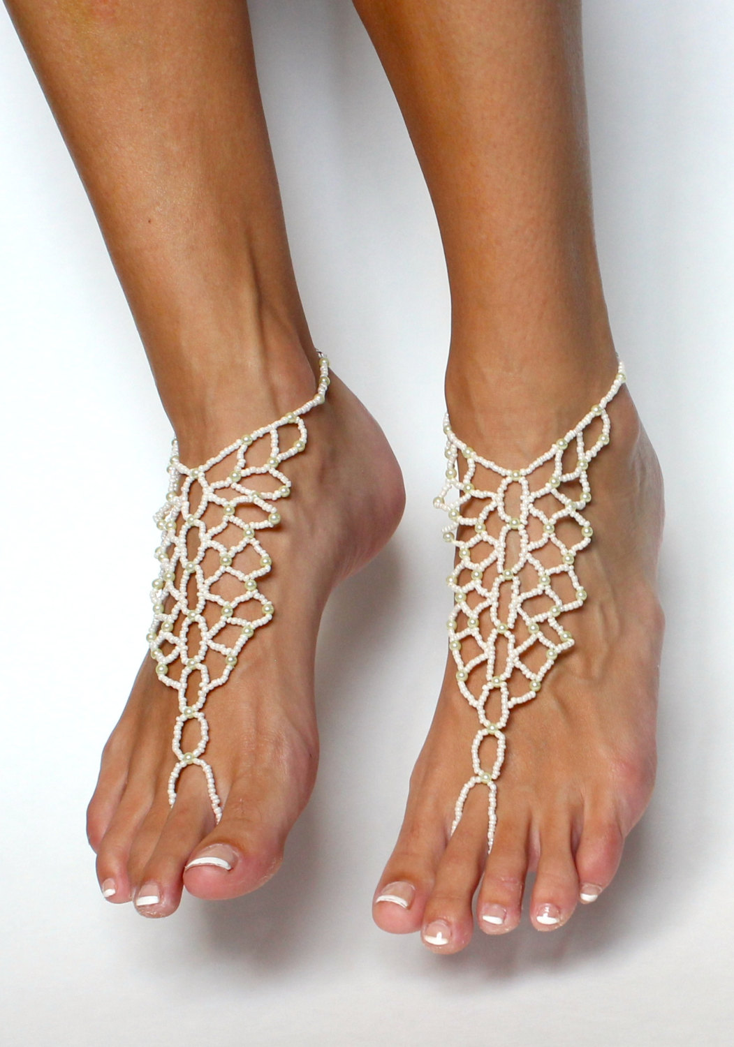 3e4be6482 Bridal Jewelry Barefoot Sandals Wedding Foot Jewelry Anklet Barefoot