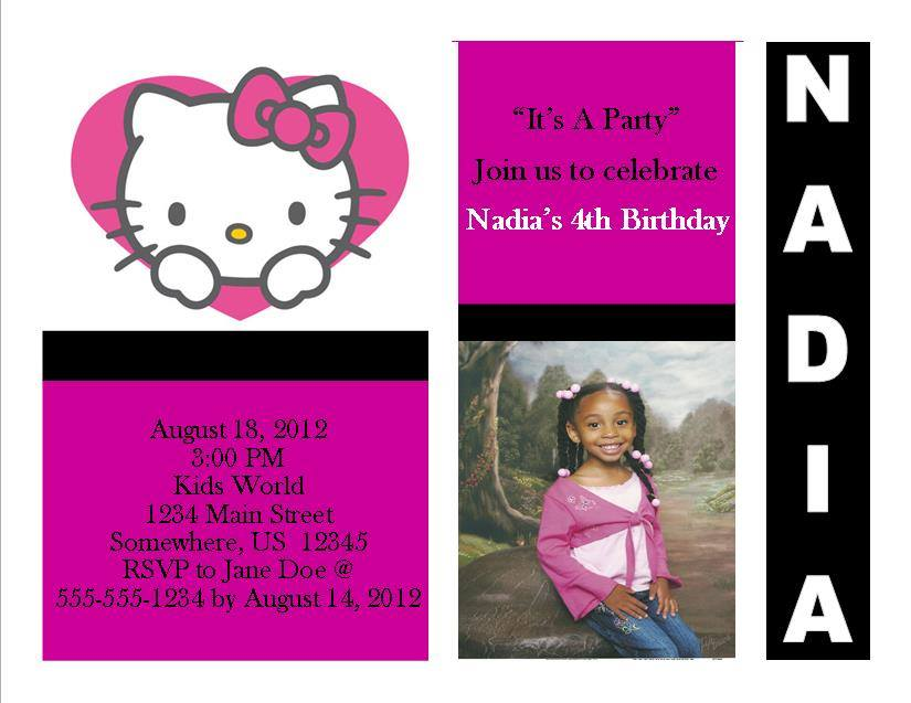 Hello Kitty Birthday Invitation 14