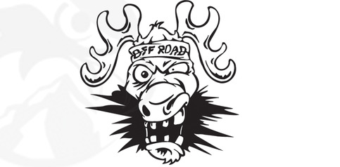 Snohock Creative Media Llc Off Road Crazy Moose Cartoon