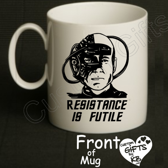 ec999a6a94d Borg Mug, Resistance is Futile Mug, Star Trek inspired Mug, Coffee Mug,