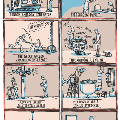 literary devices poster incidental comics online store powered