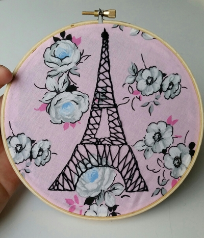 Eiffel Tower Hoop Art