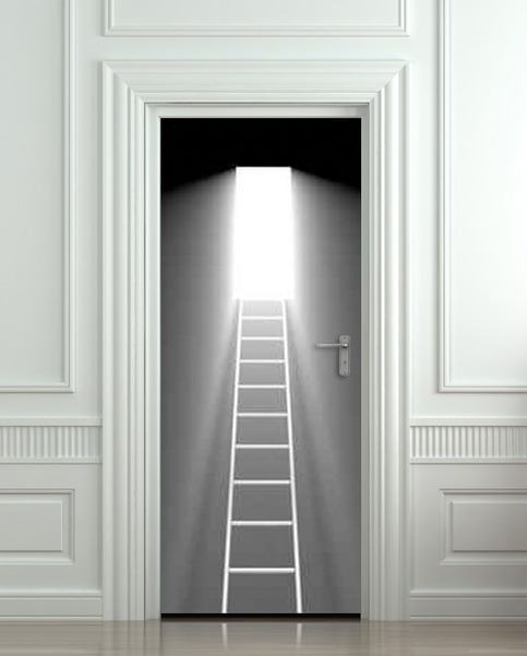 Wall Door Sticker Stair Stairs Flight Of Light Decole