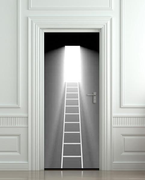 Wall Door Sticker Stair Stairs Flight Of Light Decole