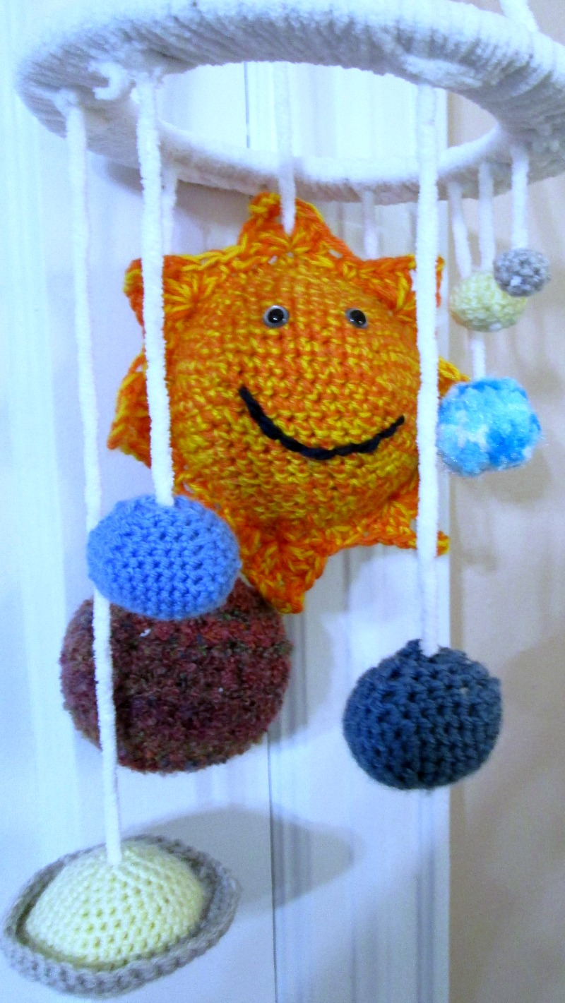 Solar System Mobile, Crocheted Mobile, Baby Gift sold by Tadpole Togs