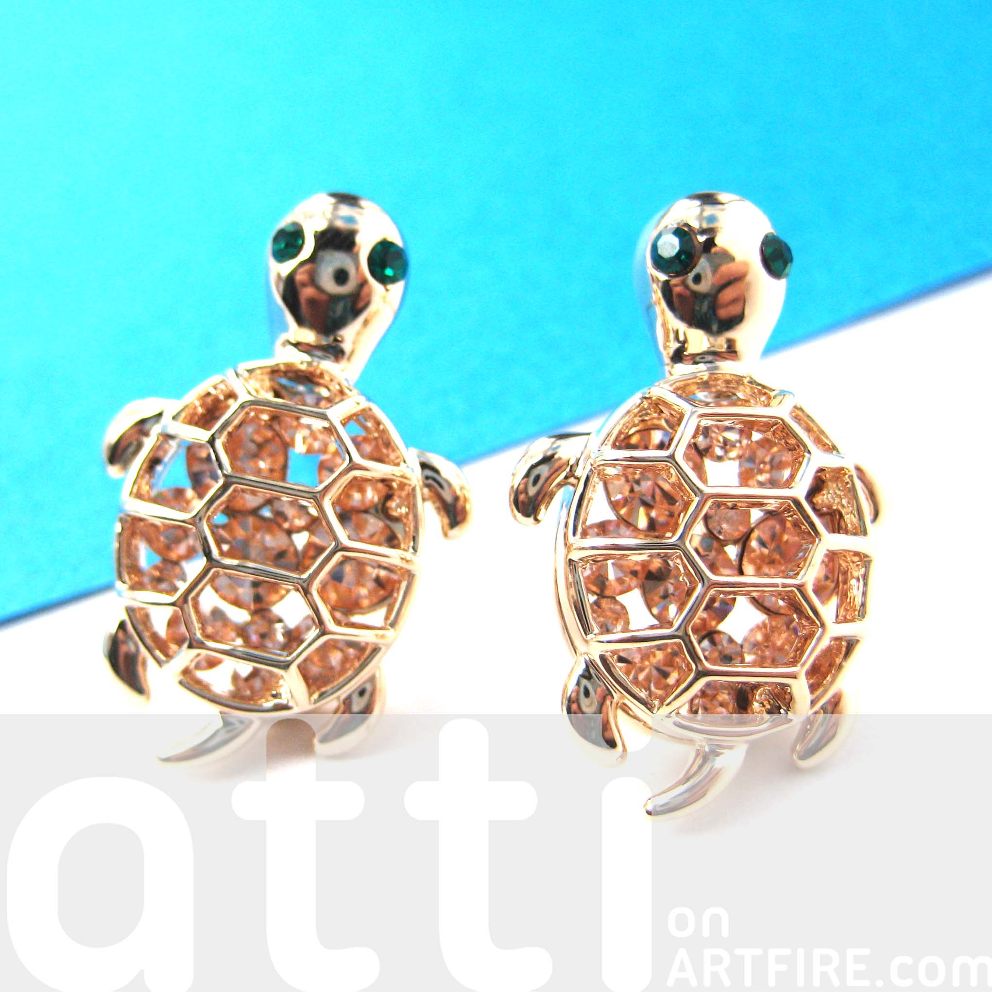 Fashion week Gold Cute stud earrings for girls