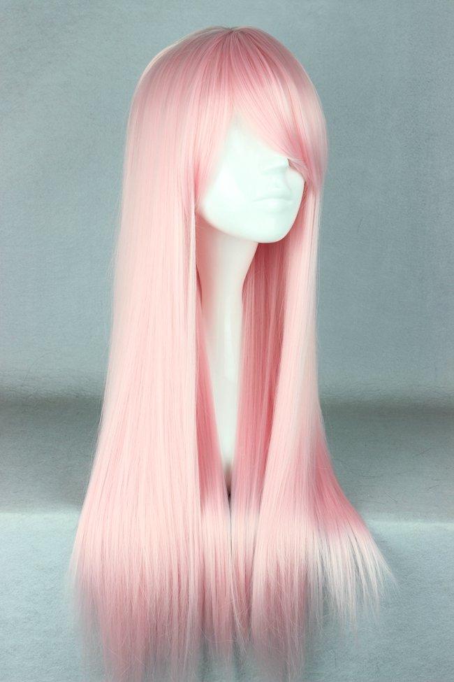 Light Pink Long Straight Wig Pastel Pink Wig Lolita Anime ...