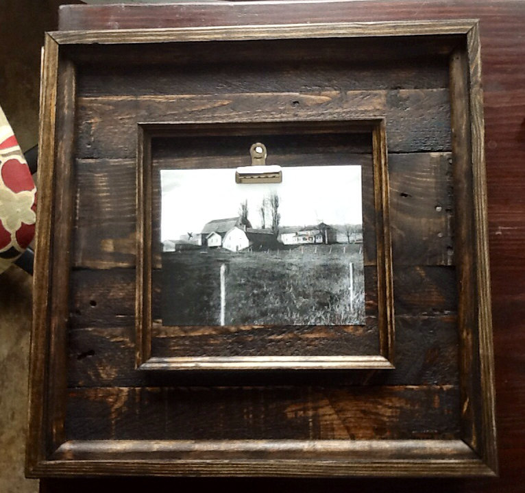 22x22 Rustic Barnwood Picture Frames made from Reclaimed Pallet Wood ...