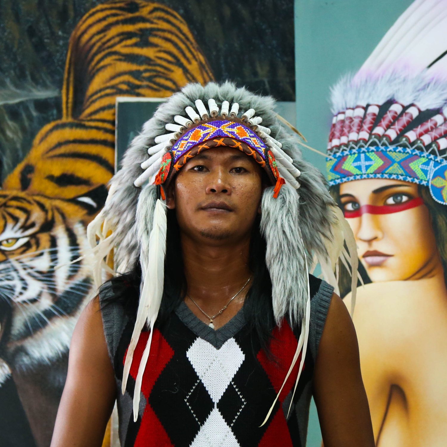 Il fullxfull.746754326 mqdc small  sc 1 st  Storenvy & Real Feather White Chief Indian Headdress 75cm Native American ...