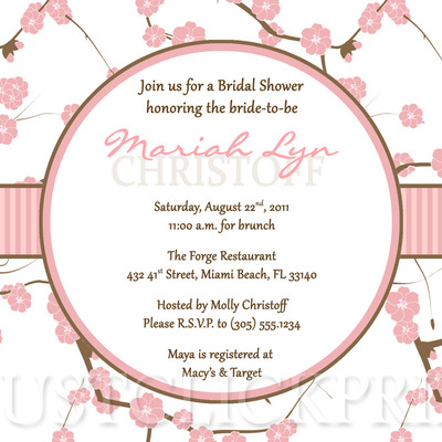 b888dc46c896 Cherry Blossom Bridal Shower Invitation Printable · Just Click Print ·  Online Store Powered by Storenvy