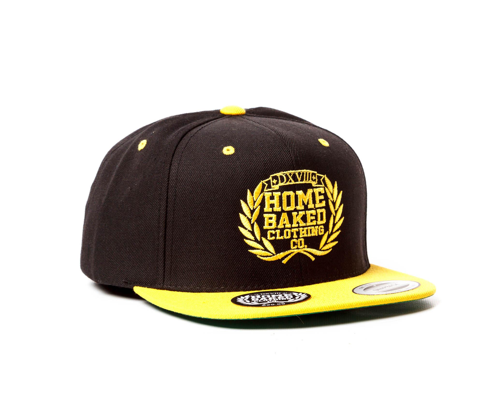 Home Baked Snapback Hat - Black Gold on Storenvy c58a14afec8