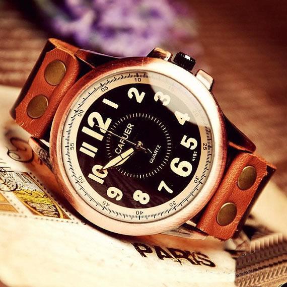 handmade antique style watch wrist watch leather band watch w1 original