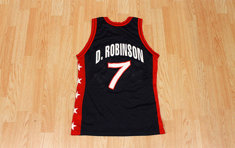 detailed look b5641 4babe David Robinson Team USA Jersey from SLAM! Vintage
