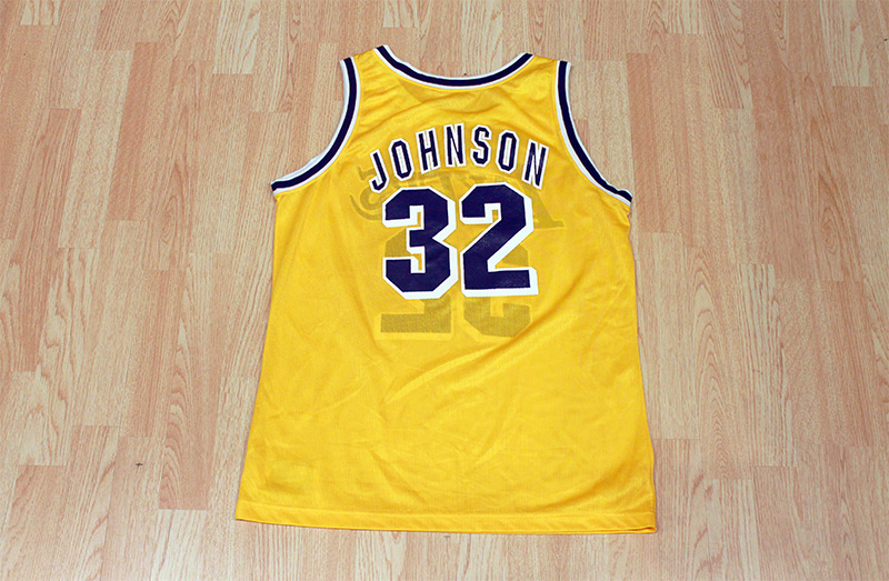 online store d27cc 89680 Magic Johnson Lakers Jersey from SLAM! Vintage