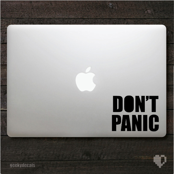 5777f74dfe4 Don t Panic Macbook Decal   iPad Decal on Storenvy