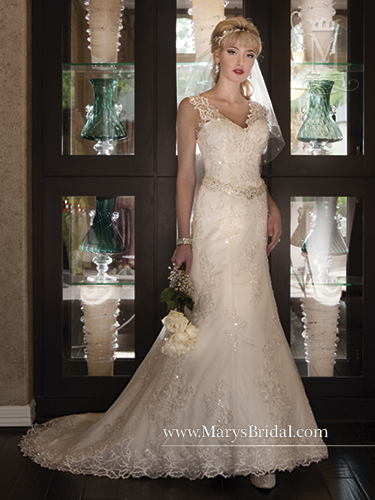 452e8c01c280 WEDDING GOWN BY MARY'S BRIDAL STYLE 6223 WHITE ENGLISH NETTING/LACE ...